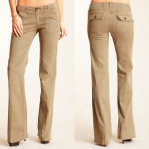Level 99 Eden Wide Leg Tan Linen Carpenter Pant
